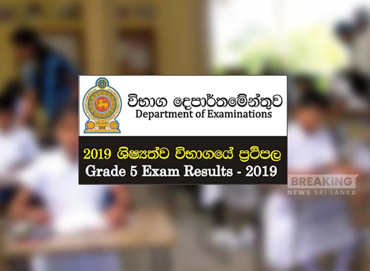 2019 Grade 5 scholarship exam results today